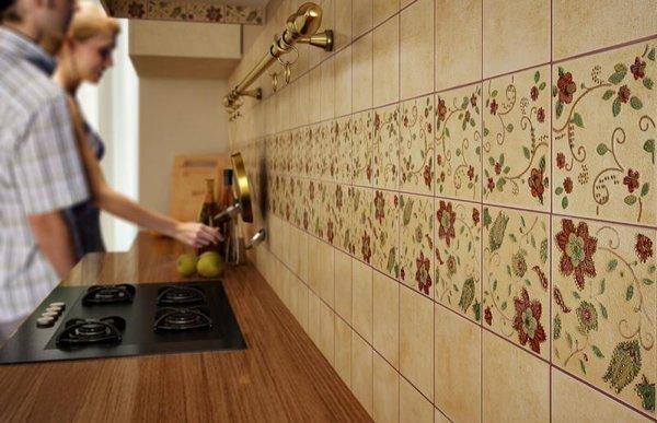 плитка для кухни рабочая зона