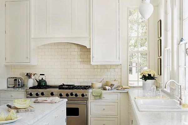 плитка для фартука кухни кирпичики