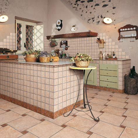 варианты кладки плитки на кухне
