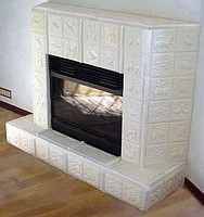 отделка печей керамической плиткой