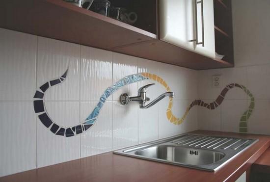 панно для кухни из плитки