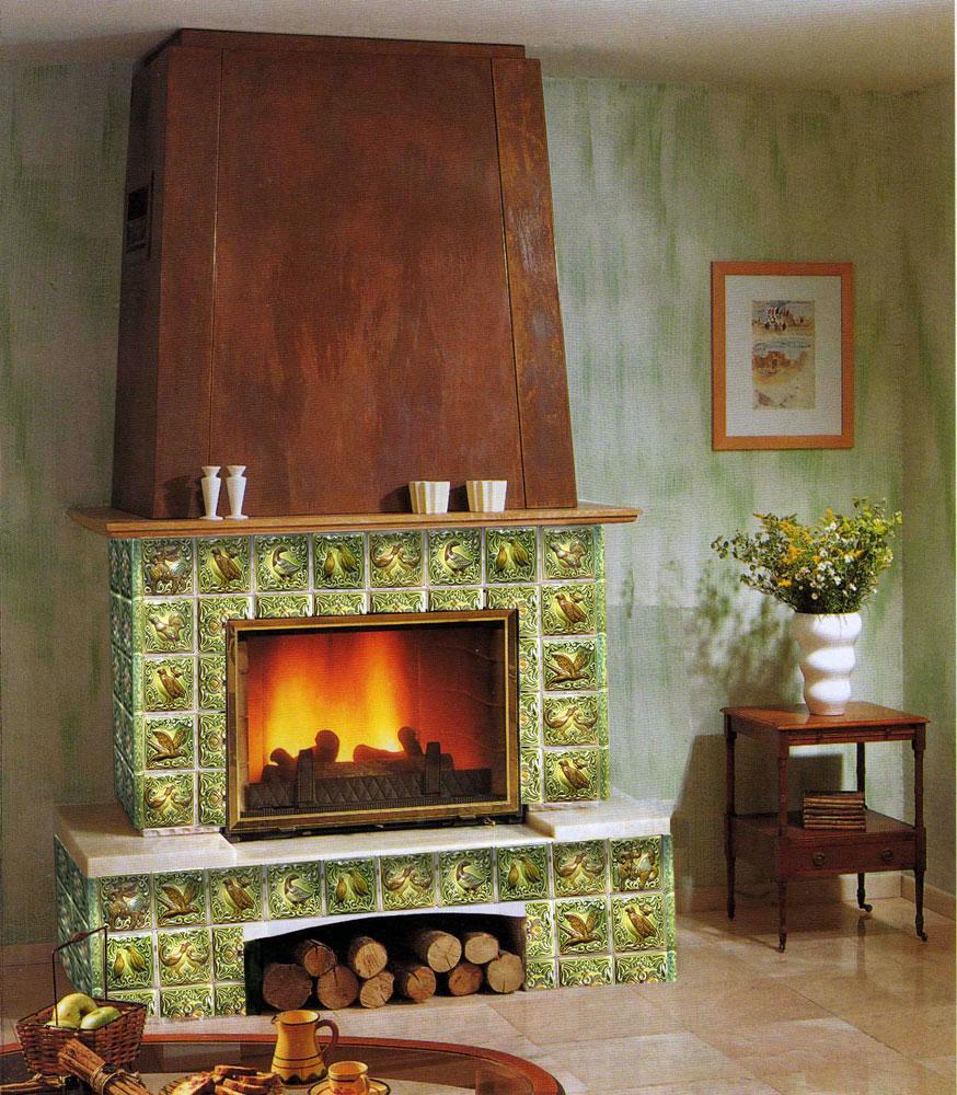 керамическая плитка для камина