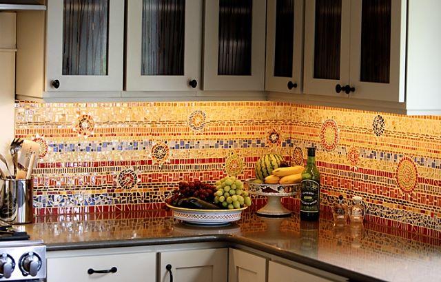 Плитка мозаика для кухни (обзор дизайнерских интерьерных решений)