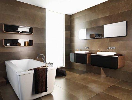 Отделка ванной комнаты плиткой, фото вариантов стилей