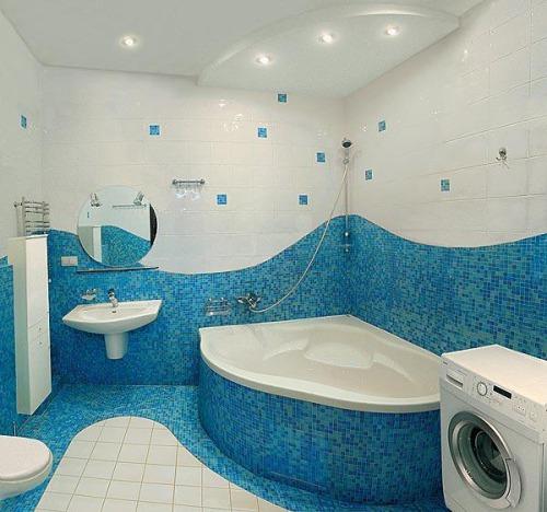 Облицовка ванной комнаты плиткой – традиционный вид отделки