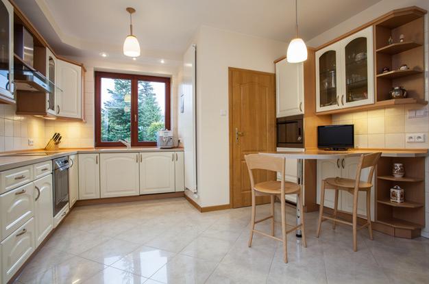дизайн плитки на пол на кухне