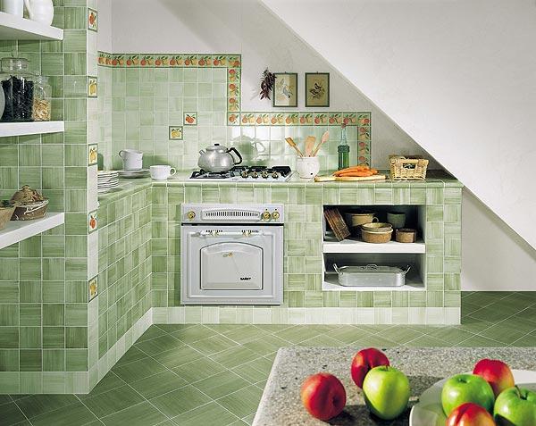 отделка кухни плиткой фото