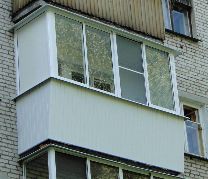 Остекление балконов алюминиевым профилем, фото вариантов кон.