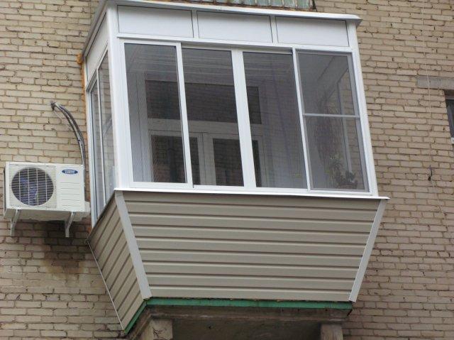 Как сделать остекление балконов алюминиевым профилем с вынос.