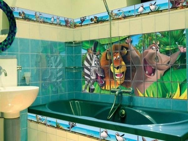 плитка в детскую ванную