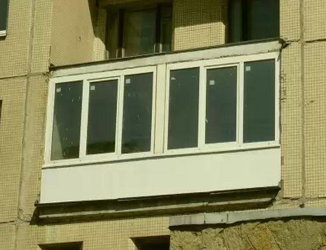 Остекление балкона п 44 лодочка slidors..