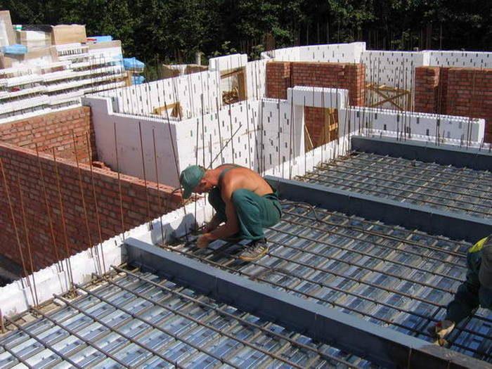 перекрытие погреба из стальных балок