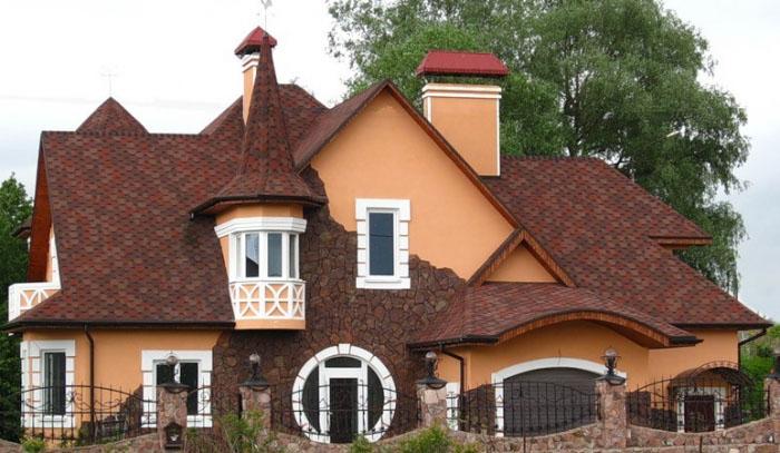 крыша с добавочными элементами