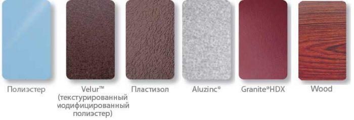 разновидности защитных покрытий для металлочерепицы