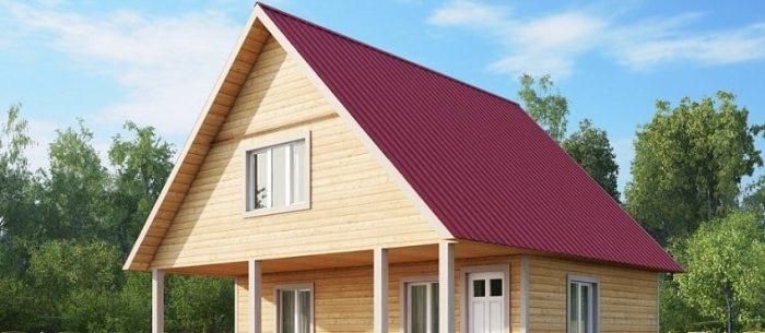 двускатная конструкция крыш