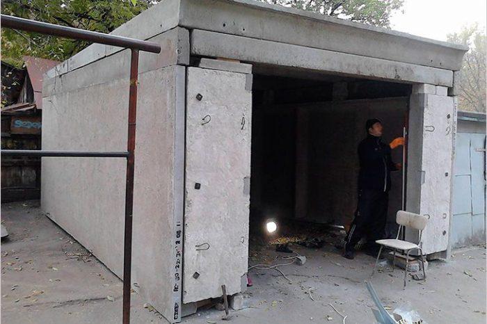 монолитная крыша гаража
