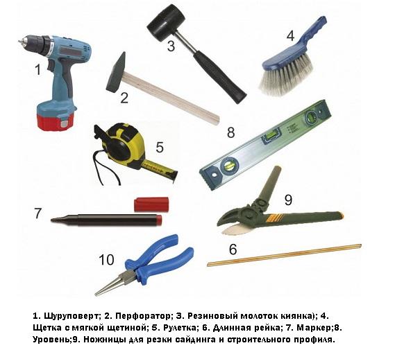 инструменты для выполнения работ