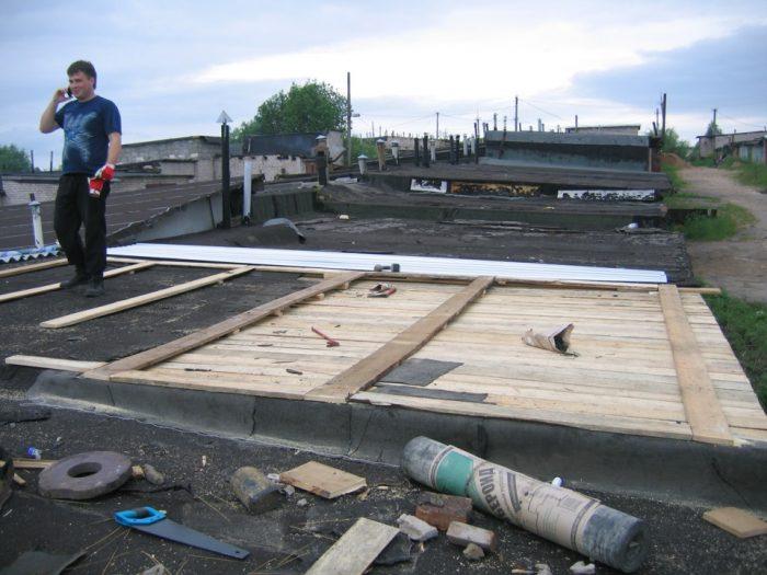 варианты подготовки и ремонта крыши