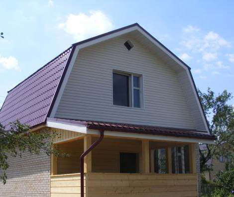 пример пятиугольной крыши