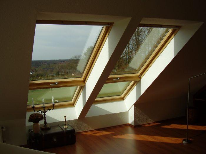 пример окна в мансарде